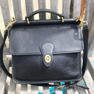 Vintage Coach Satchel 9927 Black Leather